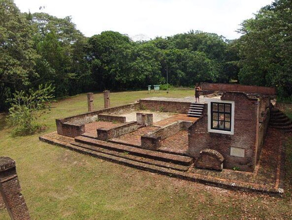 the oldest synagogue from bricks of the whole western hemisphere  Oost  Suriname