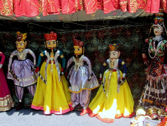 Watch a Puppet Show at Chokhi Dhani
