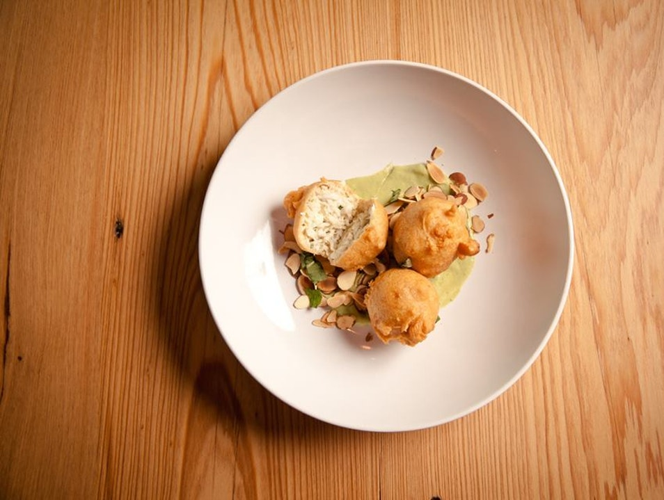 Sophisticated Dining:  Blue Crab Beignets