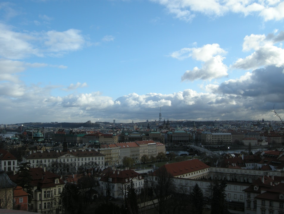 Overlooking the beautiful city of Prague Nižbor  Czechia
