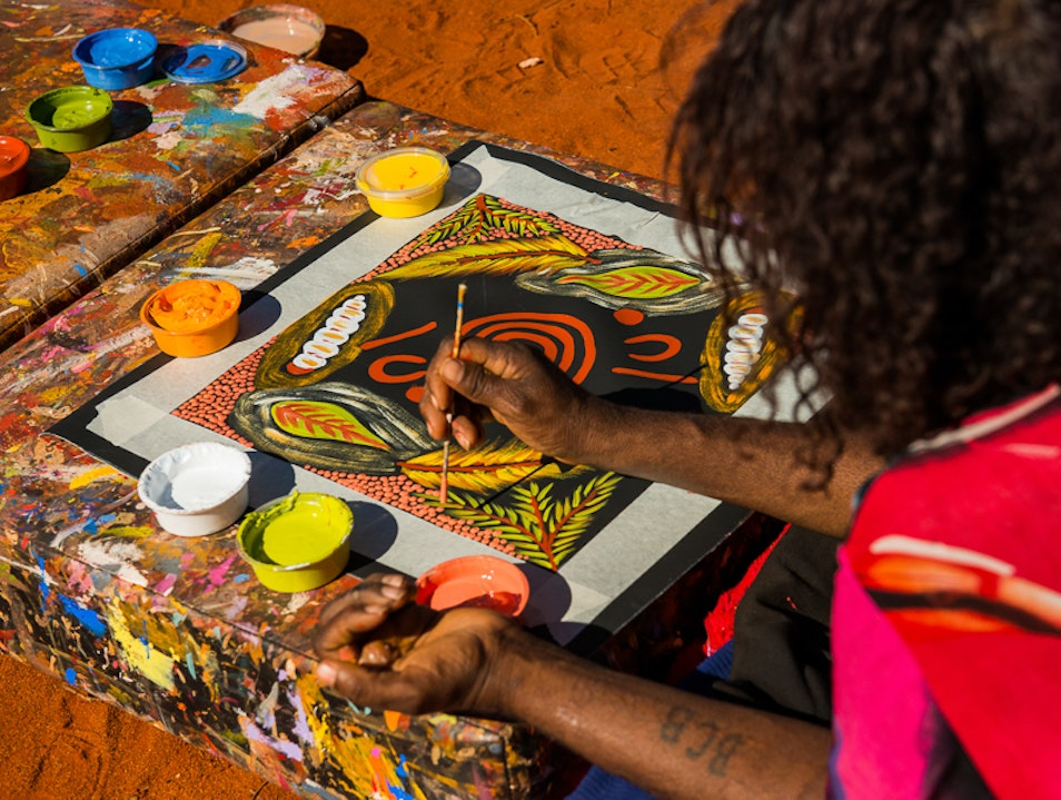 Connect the Cultural Dots  Ayers Rock  Australia