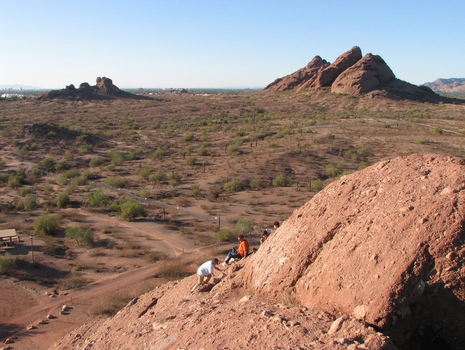 Photograph Papago Park's Buttes from the Desert Terrace Garden  Phoenix Arizona United States