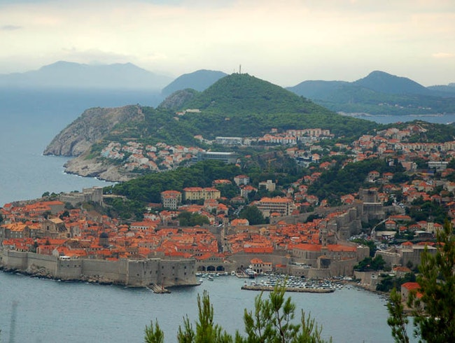 Mountain View of Dubrovnik, Croatia