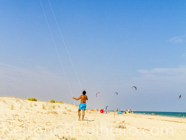 Flying a Kite in Tavira