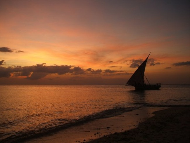 Dhow Sailing on the beautiful Indian Ocean in Zanzibar