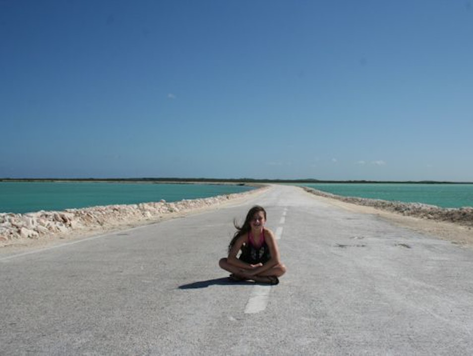 Somewhere between here and there: Lingering on the Causeway linking North and Middle Caicos Providenciales And West Caicos  Turks and Caicos Islands