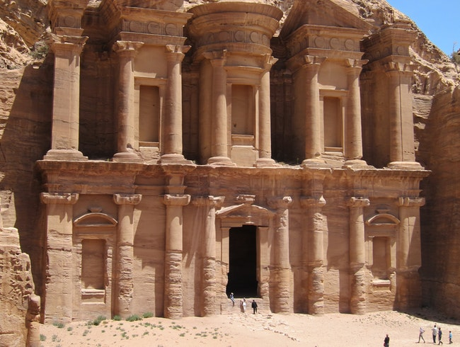 Ascending to the Petra Monastery