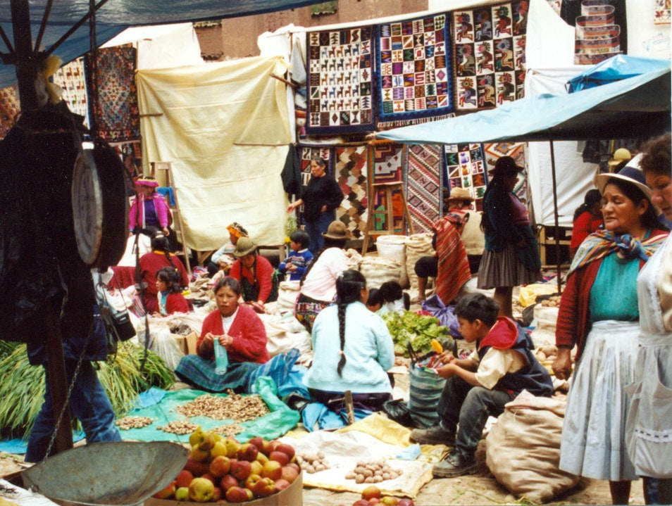 The Market at Pisac Pisac  Peru
