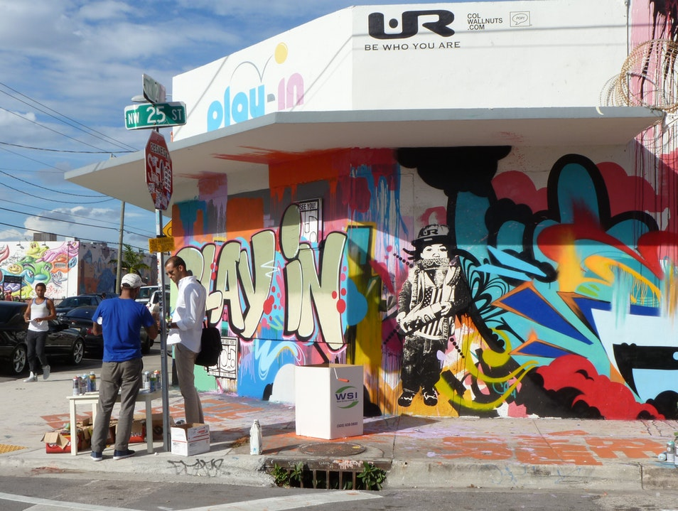 An Urban Art Scene Miami Florida United States