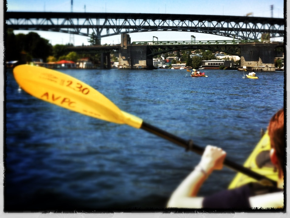 kayaking in the city--Portage Bay, Seattle Seattle Washington United States