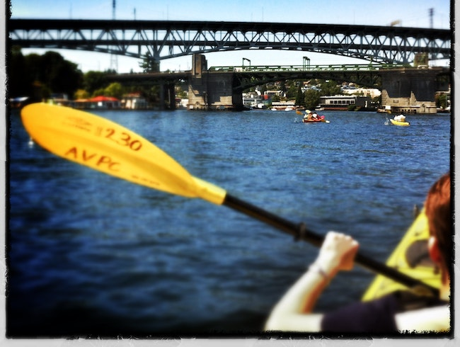 kayaking in the city--Portage Bay, Seattle