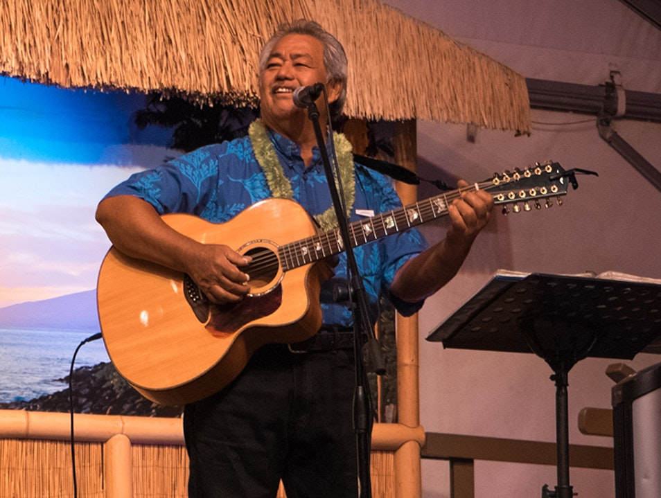 Masters of Hawaiian Slack Key Guitar Show at Napili Kai Lahaina Hawaii United States