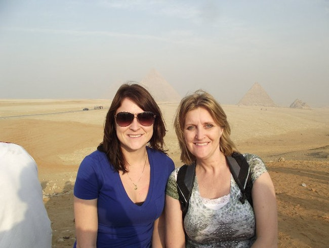 Drinking in the Pyramids!