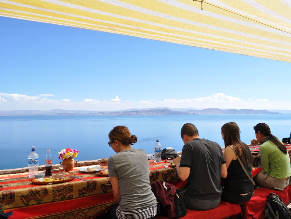 Lunch Overlooking Lake Titicaca Puno  Peru