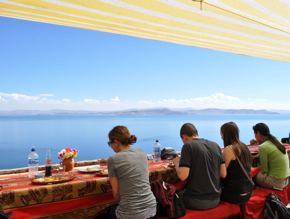 Lunch Overlooking Lake Titicaca