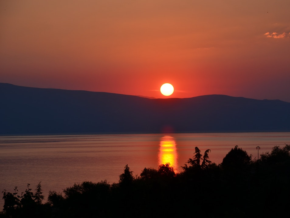 Sunset in Ohrid  Ohrid  Macedonia (FYROM)