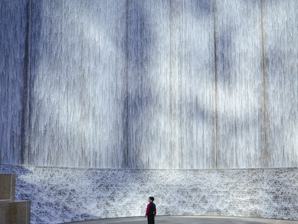 Water wall Houston Texas United States