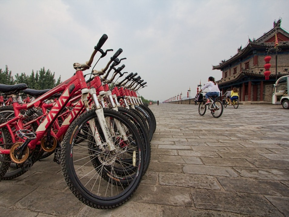 Bike Above Old Town Xi'an Xi'an  China
