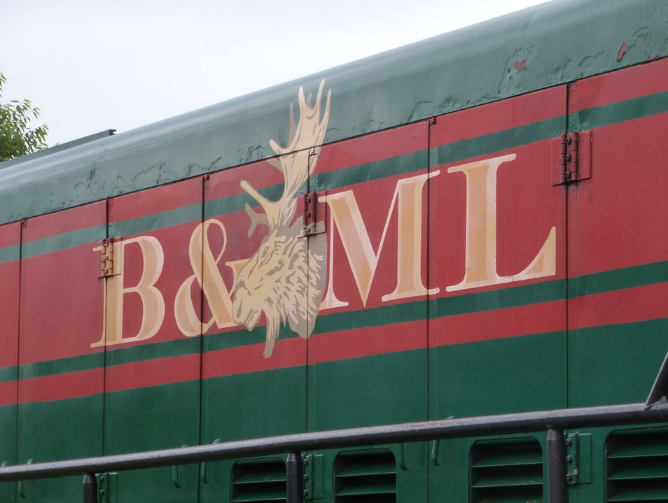 Ride the Historical B&ML Railroad  Belfast Maine United States