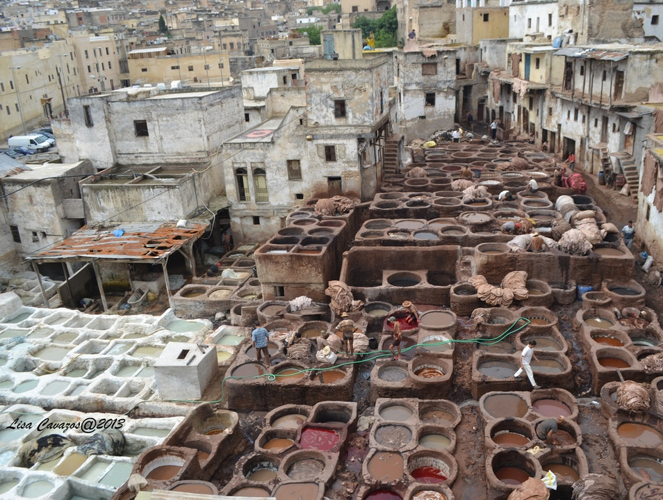 Tanneries in Fez, Morocco Fes  Morocco