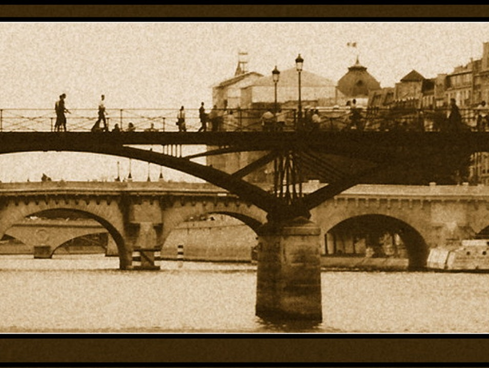 bridges across the Seine Paris  France
