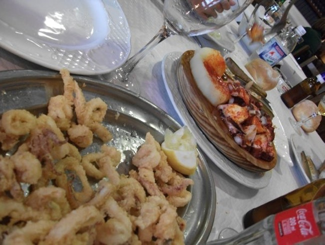 Seafood at La Marina, Asturias, Spain
