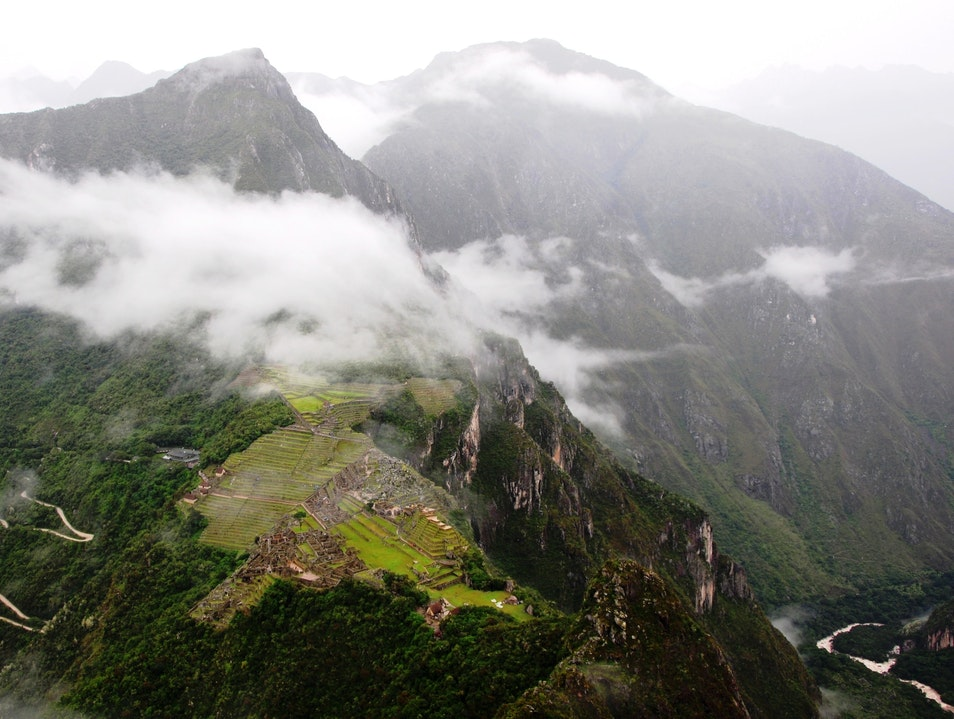 Bird's-Eye View of Machu Picchu Urubamba  Peru