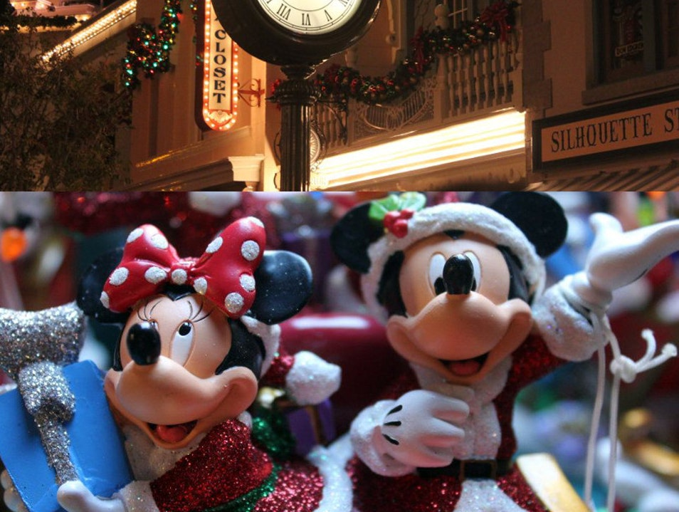 Disneyland at Christmas Time Anaheim California United States