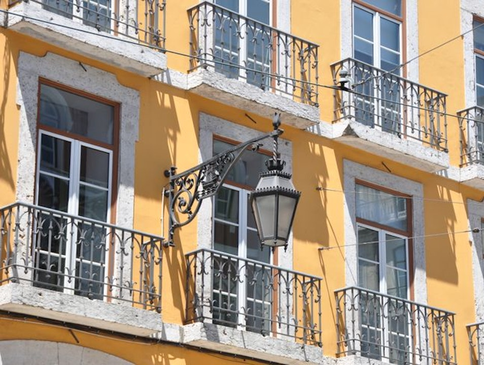 Window with Balcony Lisbon  Portugal