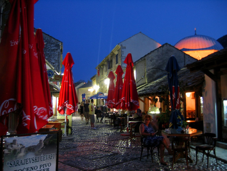 Hot night Mostar  Bosnia and Herzegovina
