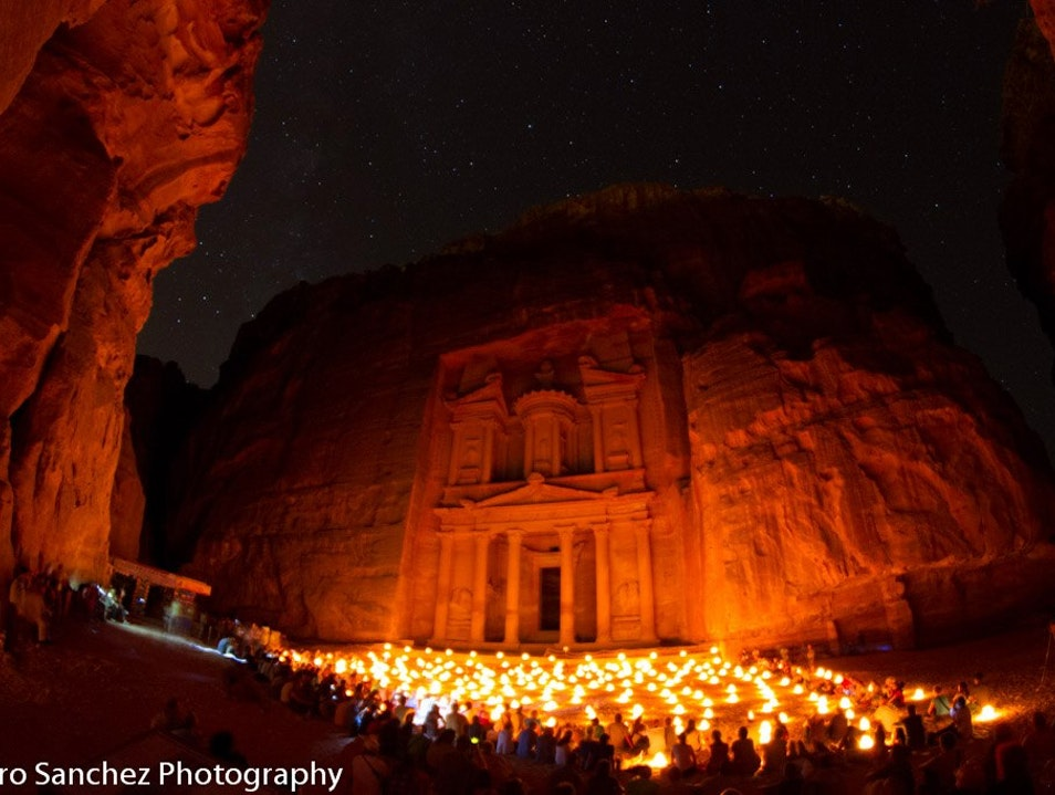 Petra by night Ma'an  Jordan