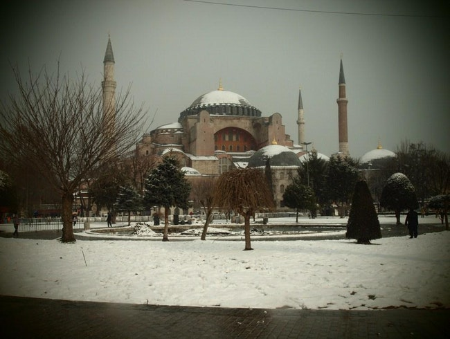 When Snow Kisses Istanbul