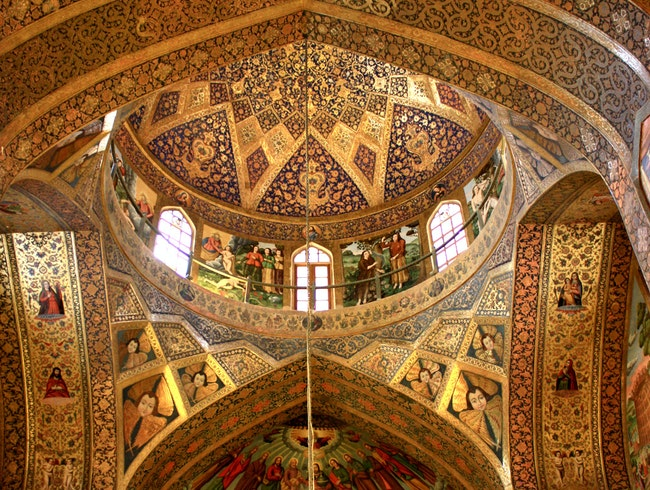 Admiring Artistic Expression of Christians in Isfahan, Iran