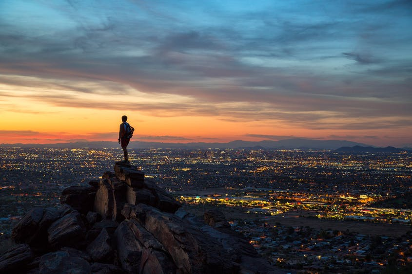 Gain a new perspective on the city via hikes like the Mormon Trail in South Mountain Park and Preserve.