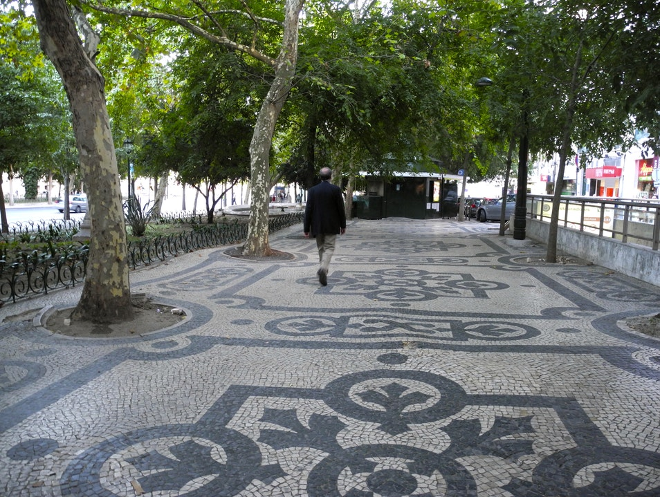 The Unique Portuguese Sidewalks Lisbon  Portugal