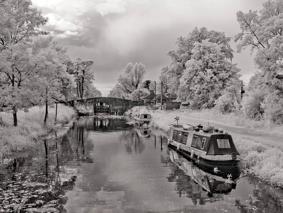 Barging in Kildare in Infrared Light
