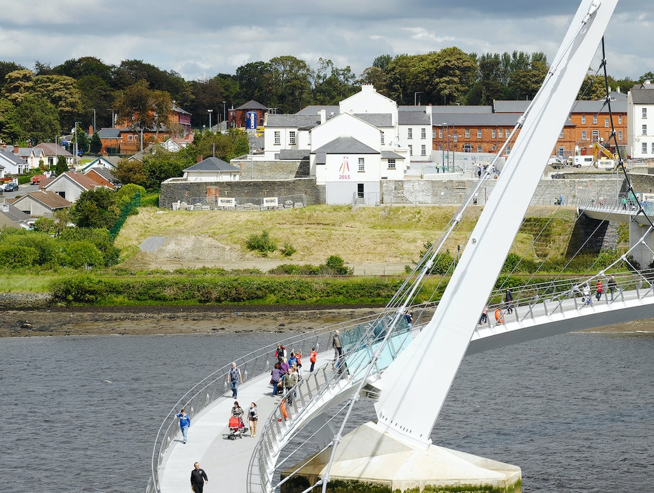 Peace Bridge Londonderry  United Kingdom