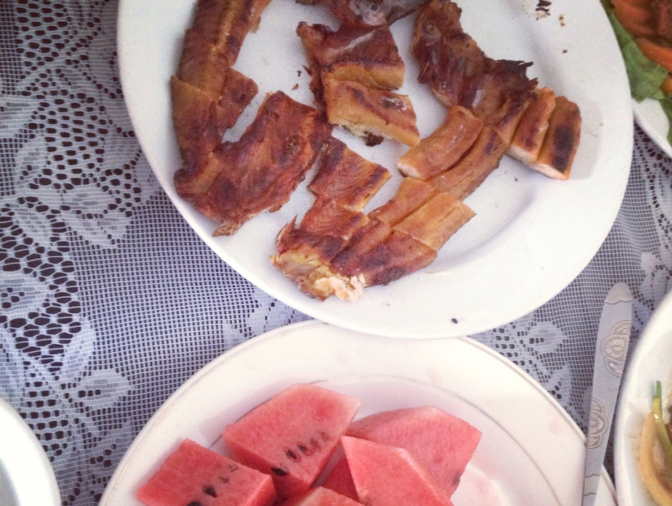 Salted Fish With Watermelon