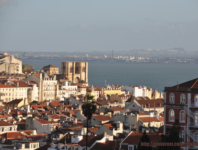 Lisbon's Dark Red Rooftops