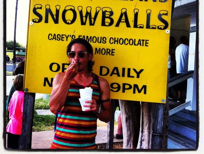 Survive the Texas Heat with Snowballs