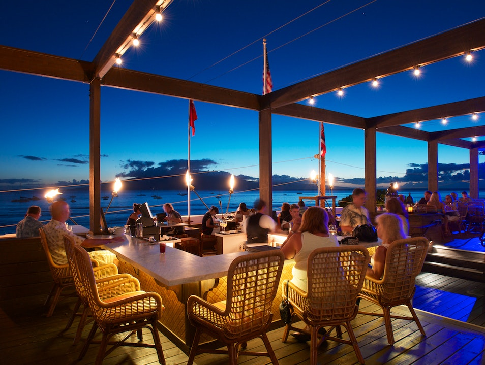 Sip Wine on the Rooftop of Fleetwood's Lahaina Hawaii United States