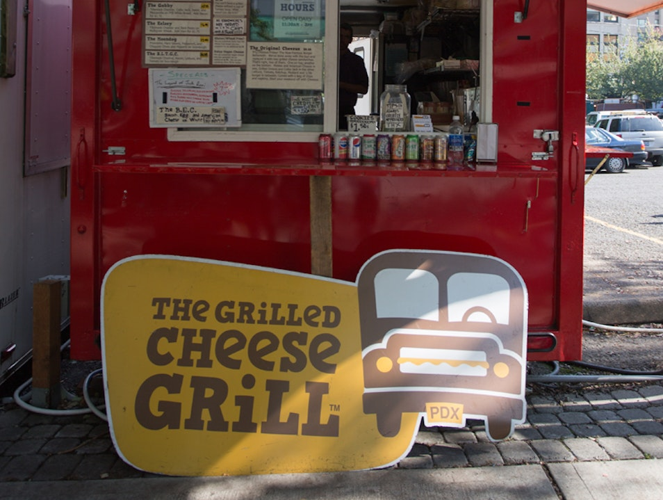 Portland's Grilled-Cheese Cart Portland Oregon United States