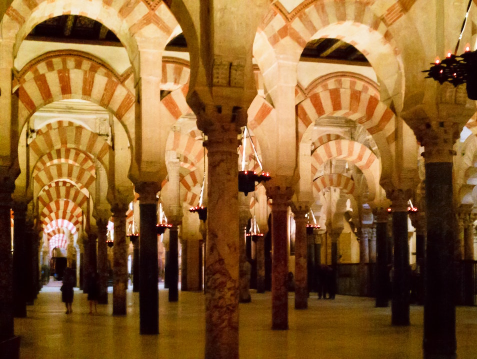 Church-Turned-Mosque-Turned-Cathedral with 856 Multi-Colored Pillars Cordoba  Spain