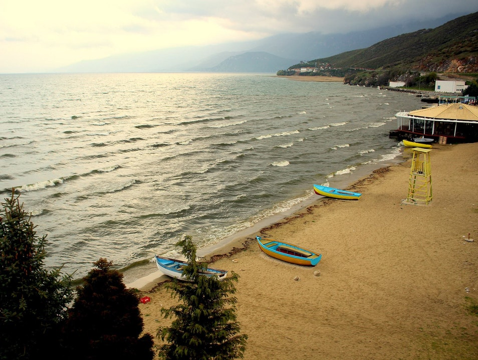 On the Shores of Lake Ohrid Tushemisht  Albania