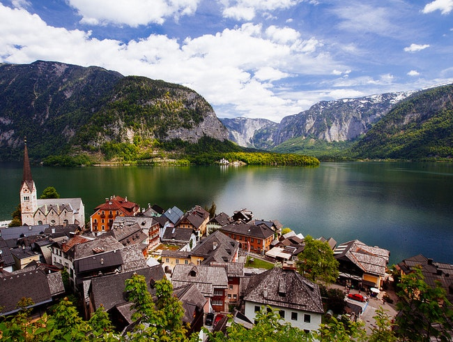 Beautiful Alps and Lake Hallstatt