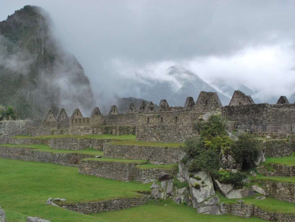 Machu Picchu in the Fog Urubamba  Peru