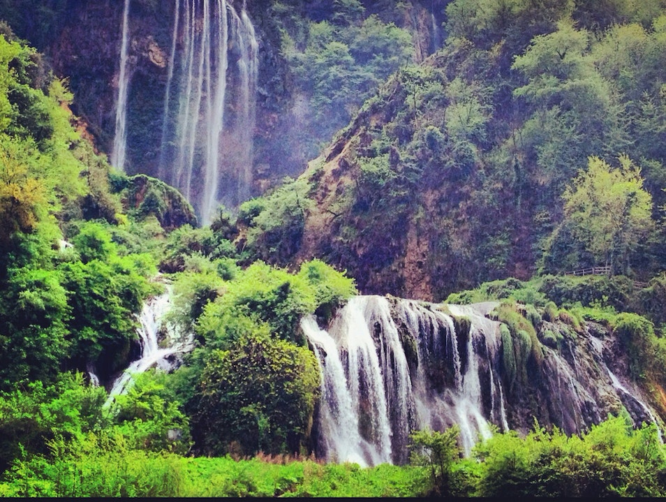 View The World's Highest Man Made Waterfall In Umbria.
