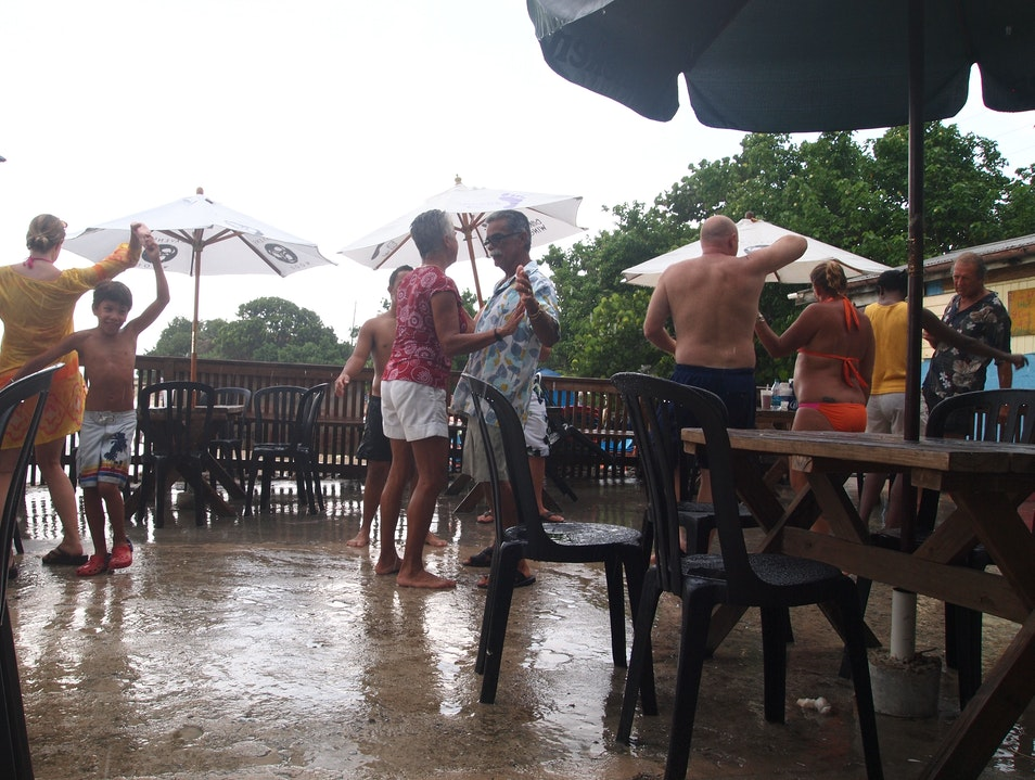 Dance In The Rain at Rhythms at Rainbow Beach Frederiksted Southeast  United States Virgin Islands