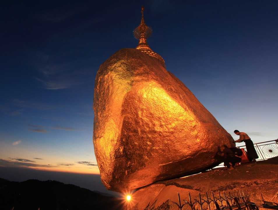 Pilgrimage to the Golden Rock Thaton District  Myanmar