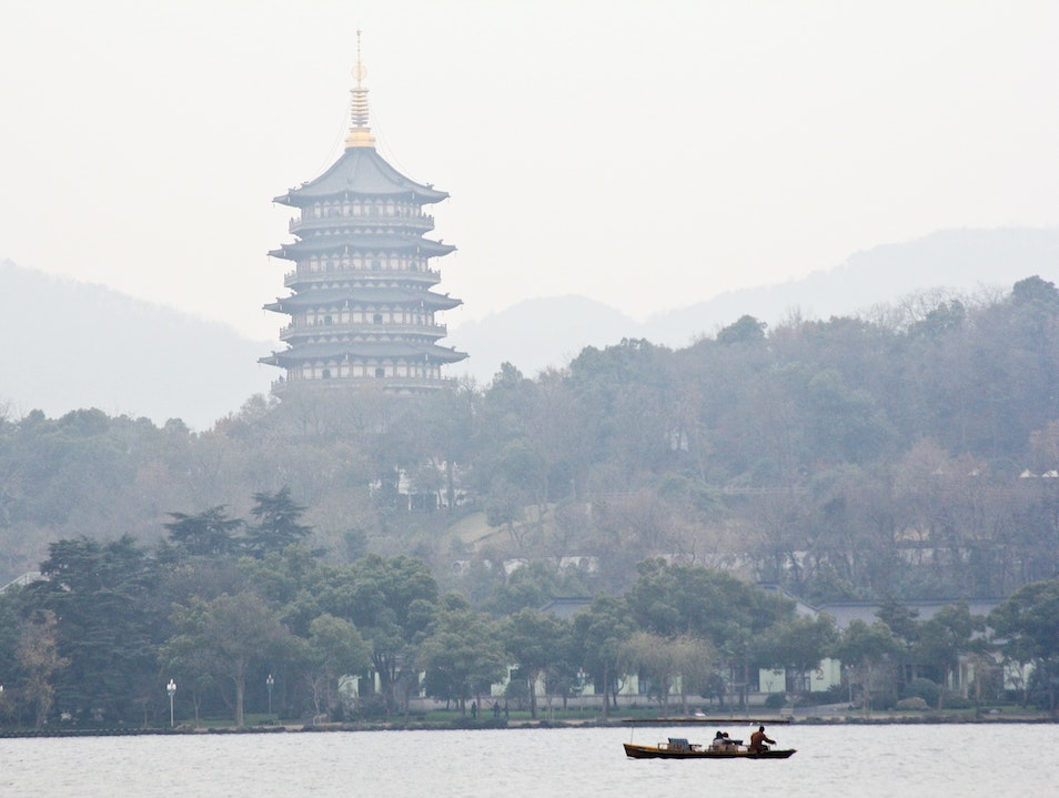 Cruising the West Lake Hangzhou  China